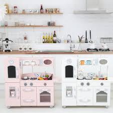 play kitchen from furniture teamson wooden play kitchen set reviews wayfair