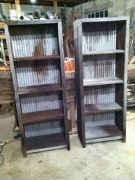 corrugated metal and barn wood shelf plans corrugated metal