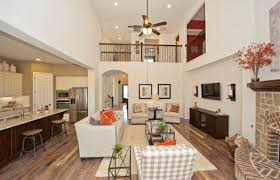 home interior representative model home in austin texas parkside at mayfield ranch 70s community