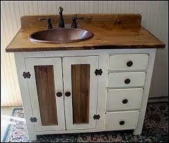 Farmhouse Style Bathroom Vanity by Country Pine Bathroom Vanity With Hammered Copper Sink Rp1690 42