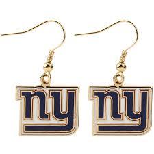 wire earrings york giants logo wire earrings