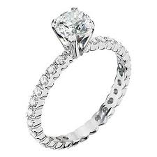all diamond rings images Eternity style engagement ring mounting bella 39 s fine jewelers jpeg