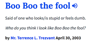 Meme Dictionary Definition - urban dictionary definition boo boo the fool know your meme