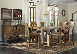jennifer convertibles dining room sets by the room furniture krinden counter height extension table w 6