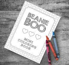 beanie boo mini color book party favor myinvitationshoppe