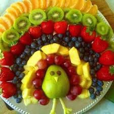 thanksgiving turkey shaped fruit platter appetizer recipe