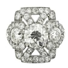 cluster rings ornate diamond cluster ring circa 1920 for sale at 1stdibs