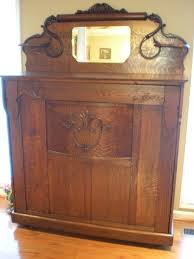 Murphy Bed With Armoire 1907 Oak Murphy Bed After Restoration Restored Antique