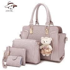 leather women s wallet pattern 4 pcs set women bag crocodile pattern composite bag vintage women