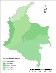 Map Of Eastern Caribbean by Map Of Ecoregions Of Colombia Figure 2 Of 4