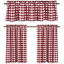 Red Kitchen Curtain by Amazon Com Lovemyfabric Poly Cotton Gingham Checkered Plaid