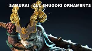 for honor all shugoki ornaments customization