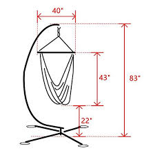 tüv tested zupapa heavy durable steel c hammock frame stand with