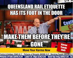 Queensland Memes - queensland rail etiquette has its foot in the door make them before