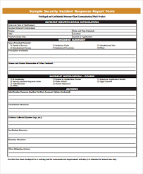 incident summary report template 53 incident report exles