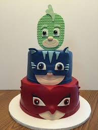 pj masks birthday cake coordinating cupcakes cakecentral