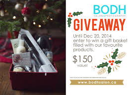 2014 gift basket giveaway closed bodh bodh salon guelph