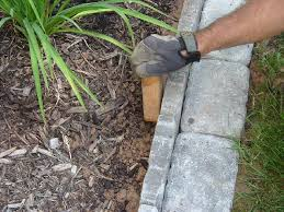 Flower Bed Edger Edging A Flower Bed With Cement Pavers Infobarrel