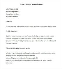 Project Manager Example Resume by Project Manager Resume Template U2013 6 Free Samples Examples