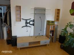 wohnzimmer fernsehwand wohnwand gestalten beton abstrakt resimdo