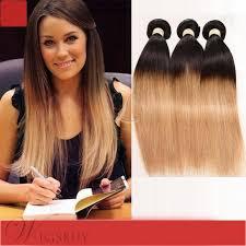 ombre weave ombre hair human hair weave 3 bundles 1b 27