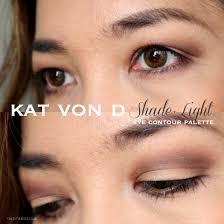 kat von d shade and light eye looks kat von d shade light eye contour palette review swatch