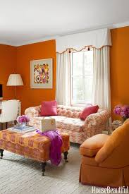interiors paint color ideas features outstanding orange living