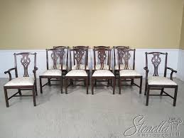 Mahogany Dining Tables And Chairs Amazon Com Set Of 10 Henkel Harris Model 102 Chippendale