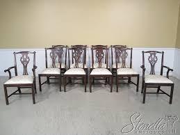 Chippendale Dining Room Set Amazon Com Set Of 10 Henkel Harris Model 102 Chippendale