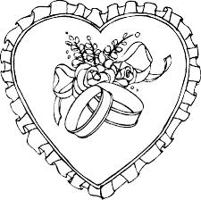 dessin mariage coloriage a imprimer les alliance de mariage gratuit et colorier