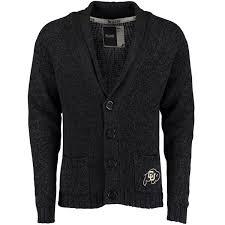 black sweater with white collar s bruzer black colorado buffaloes shawl collar cardigan sweater