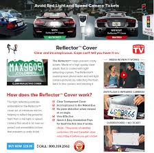 Red Light Camera Ticket Anti Red Light Camera U0026 Speed Camera Reflector License Plate Cover