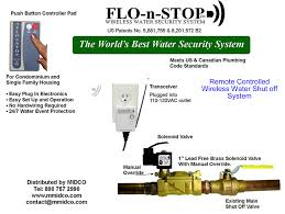 flo n stop wireless water shutoff system with leak detection