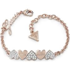 gold guess bracelet images Ladies guess jewellery rose gold plated heart bouquet bracelet jpg