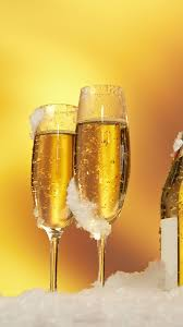 download wallpaper 1080x1920 bottle wine glasses champagne snow