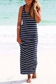 shop navy blue white striped dress with affordable prices online