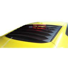 mustang rear louvers mustang rear window louvers black aluminum 2015 2017 fastback