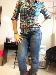 plaid shirt jeans cowboy boots u2026 clothes pinterest country