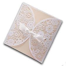wedding invitations dubai design white laser cut wedding invitations cards set printable