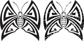 tattoo butterfly design vector art stock vector colourbox
