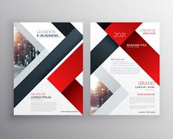 e brochure design templates abstract black geometric brochure design template vector