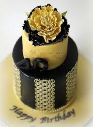 black u0026 gold 40th birthday cake d cake creations