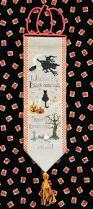 spooky greetings bell pull pattern for cross stitch instant pdf