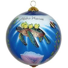 honu sea turtles hawaiian ornament
