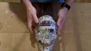 paper mache skull youtube