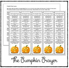 half a hundred acre wood the pumpkin prayer bookmarks and lesson
