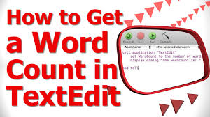How To Count Words In Textedit In Mac Os X How To Get A Word Count In Textedit