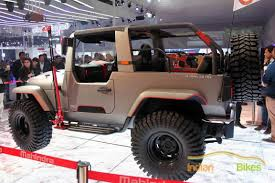 custom mahindra thar showed at auto expo 2016 indian cars bikes