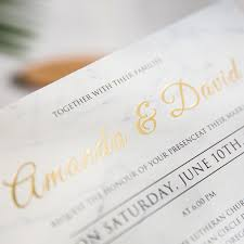 Foil Wedding Invitations Modern Simple Gold Foil Wedding Invites Swws035 Stylishwedd