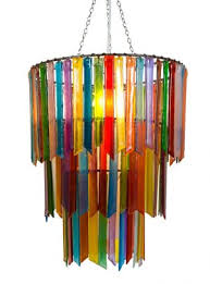 Multi Coloured Chandeliers Lights Chandeliers In Recycled Glass
